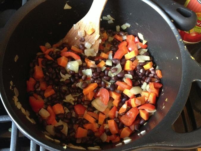 Brazilian Black Bean Soup (before blending)